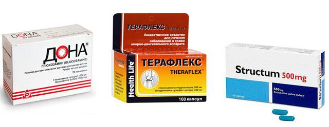 хондропротекторы Дона, Терафлекс и Структум