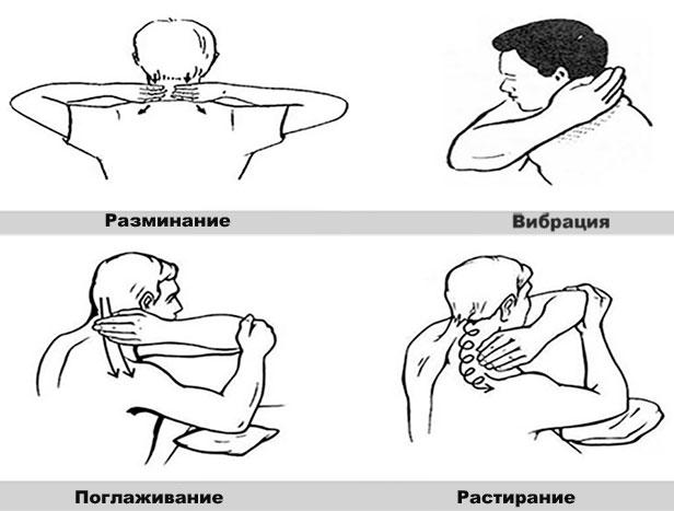 техника проведения самомассажа при шейном остеохондрозе