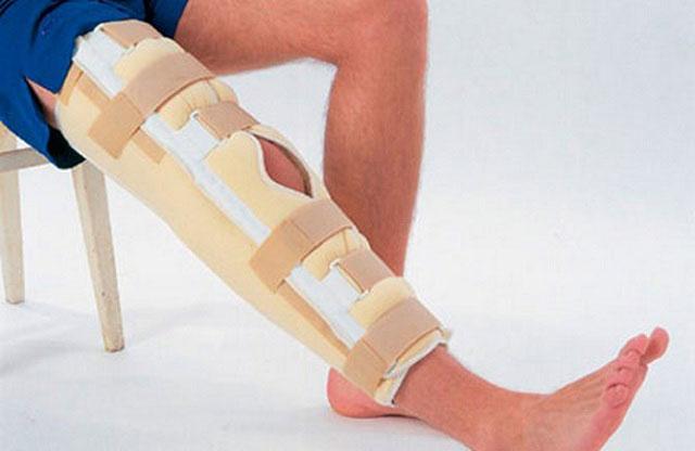 лангетка на коленный сустав