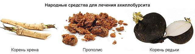 ингредиенты для народных рецептов для лечения ахиллобурсита