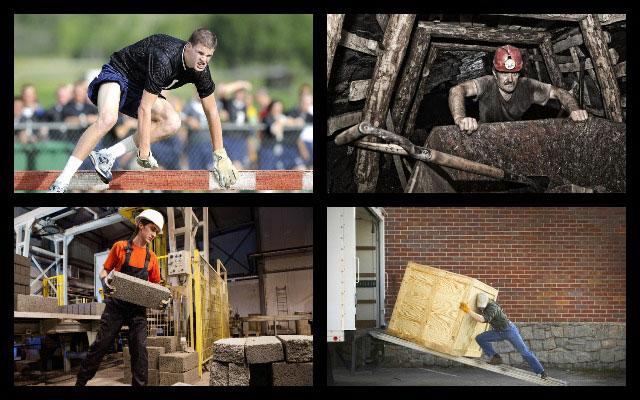 спортсмен, шахтер, строитель, грузчик