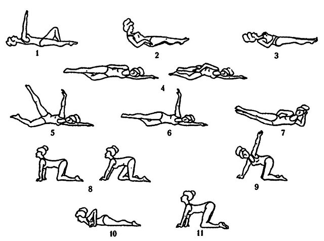 примеры упражнений лечебной физкультуры для мышц спины