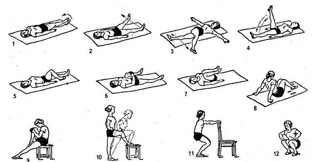 примеры ЛФК для коленного сустава