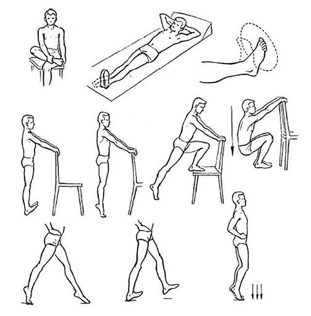 примеры упражнений для разминки голеностопа