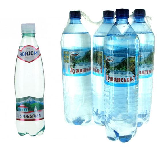 минеральная вода Боржоми и Лужанская