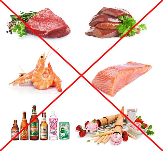 запрещенные при подагре продукты