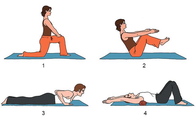 примеры упражнений йоги для коррекции осанки