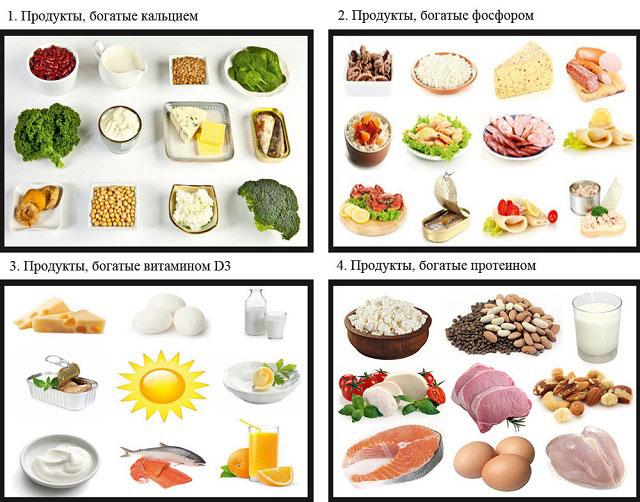 необходимые продукты при остеопорозе
