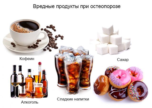 продукты, от которых следует отказаться при остеопорозе
