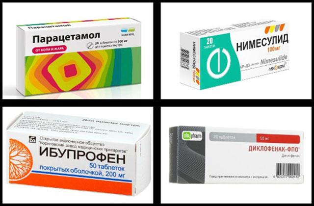 парацетамол, нимесулид, ибупрофен, диклофенак-фпо