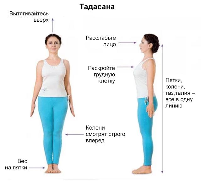 техника выполнения Тадасаны