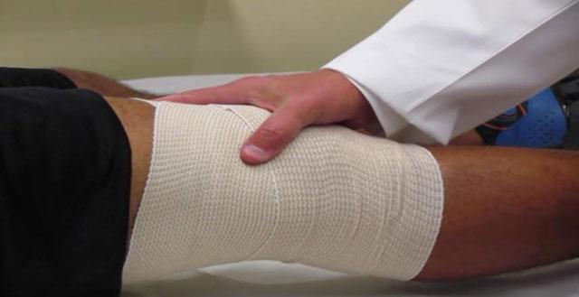 фиксирующая повязка на колено