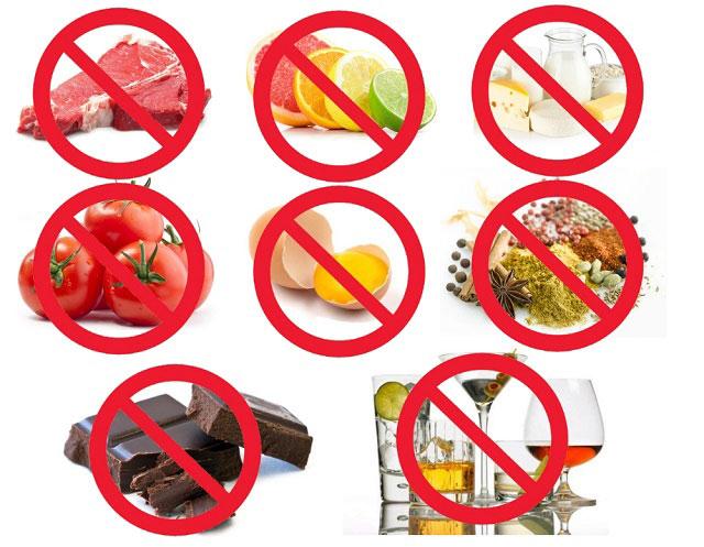 запрещенные продукты в диете Донга