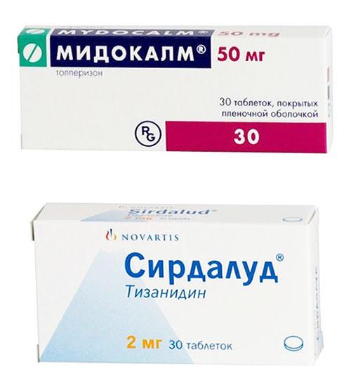 препараты мидокалм и сирдалуд