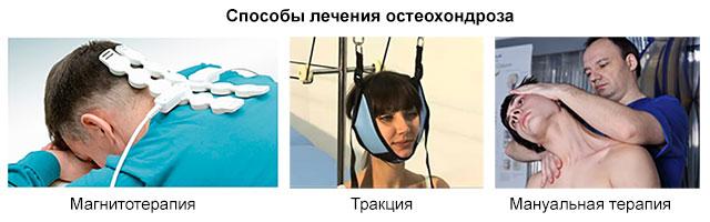 магнитотерапия, тракция, мануальная терапия