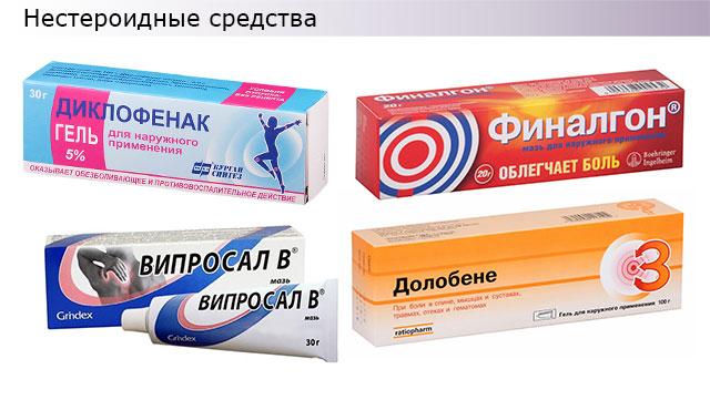 мази с нестероидными противовоспалительными средствами