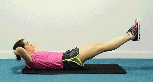 упражнение на спине с поднятием ног вверх