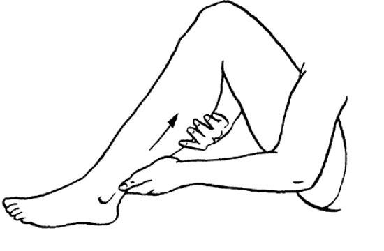 «выжимание» голени