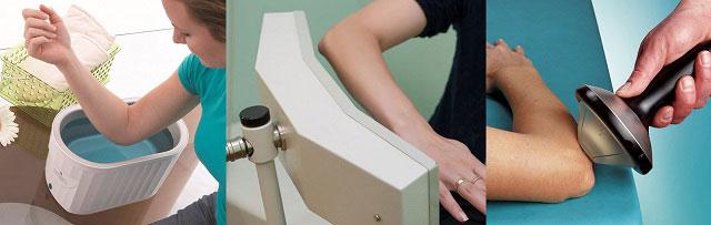 парафиновая аппликация, магнитотерапия, УВЧ процедура