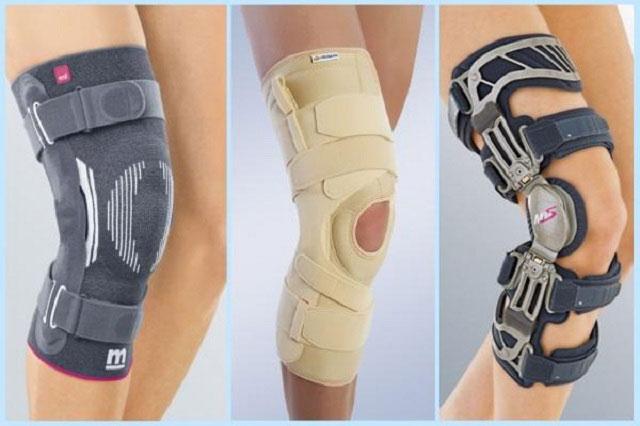 различные ортопедические фиксаторы на колено