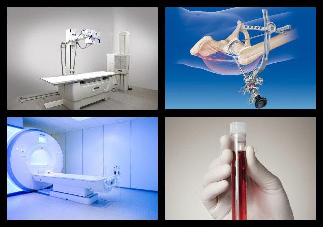 рентген, пункция сустава, МРТ и анализы крови