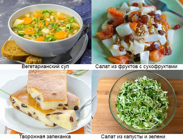 примеры рекомендованных блюд при ревматоидном артрите