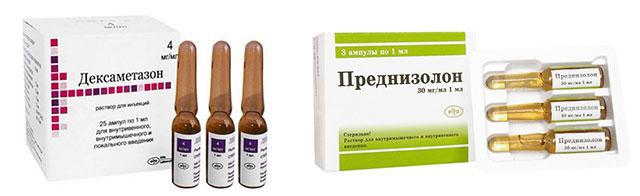 препараты Дексаметазон и Преднизолон