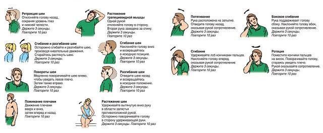 примеры упражнений для укрепления мышц шеи