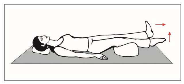 подтягивание носков лежа на спине