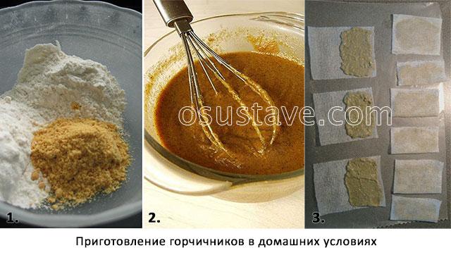 фоторецепт домашних горчичников