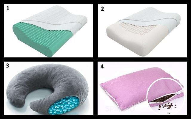 подушки с различными наполнителями