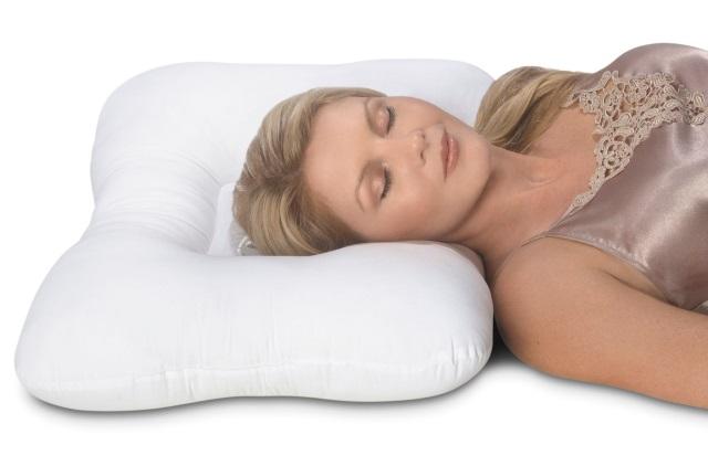 ортопедическая подушка с углублением для головы