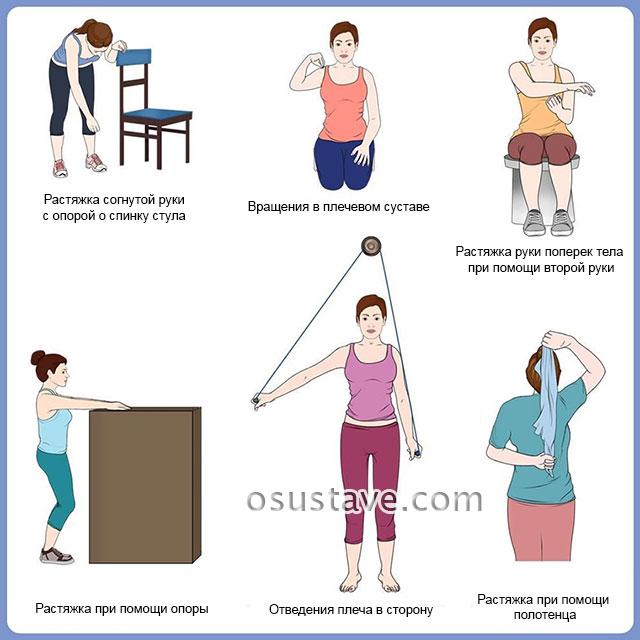 примеры упражнений при капсулите