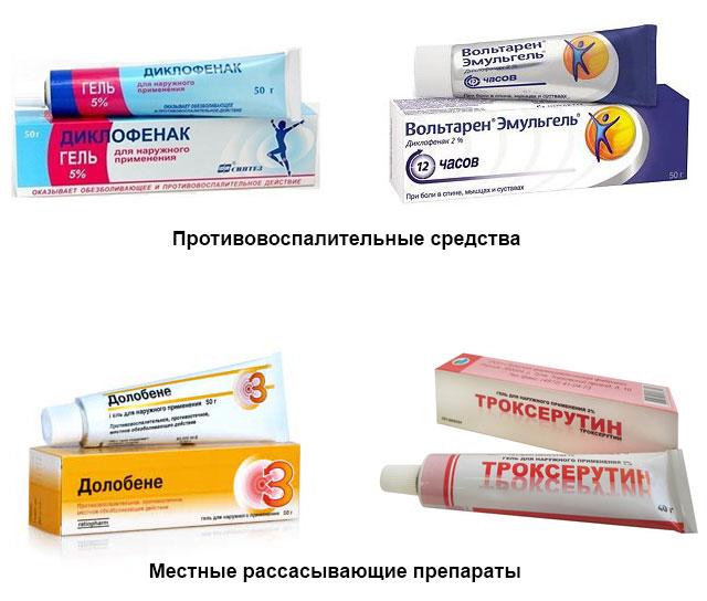 мази, используемые при острой травме мениска колена