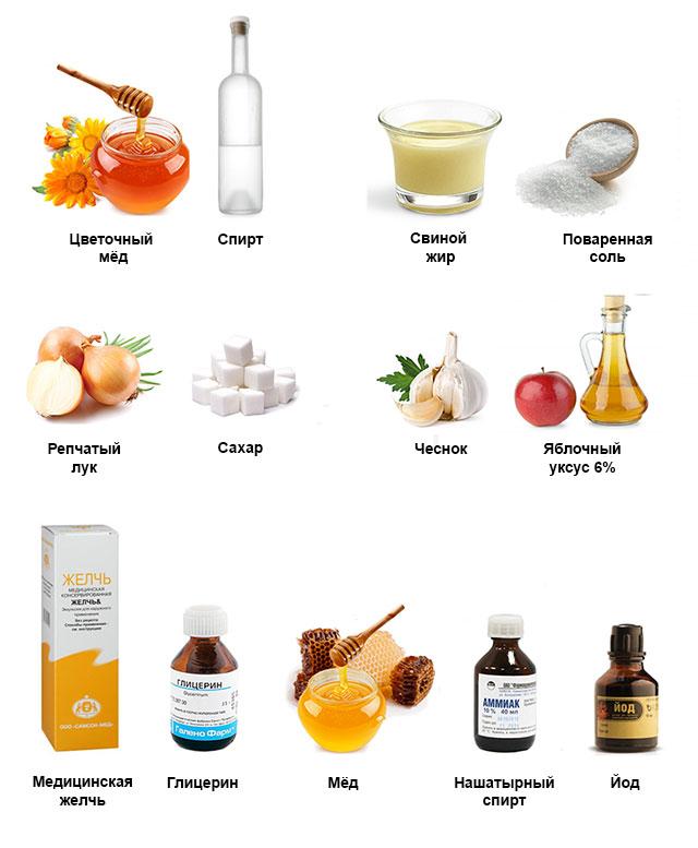 ингредиенты для народных средств для лечения мениска