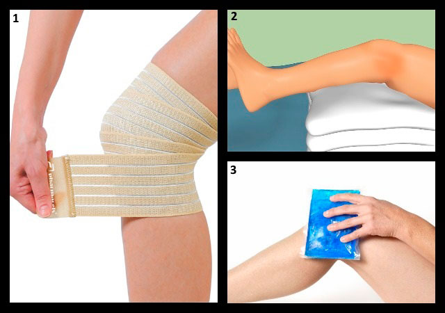 помощь при острой боли в колене