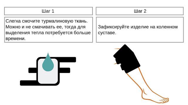 инструкция по использованию турмалинового наколенника