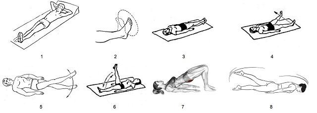 комплекс упражнений для колена