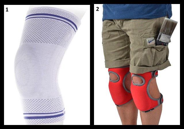 эластичный бандаж и наколенники для снятия нагрузки с коленного сустава