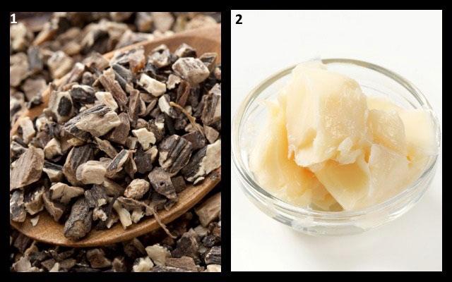 ингредиенты для приготовления домашней мази из окопника
