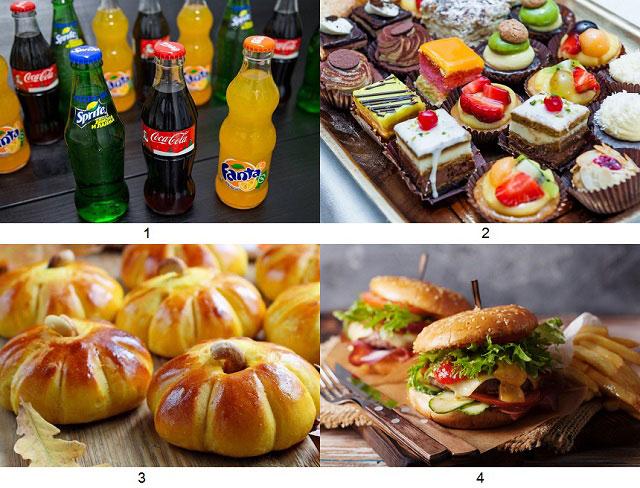 запрещенные продукты – газированные напитки, пирожные, булочки, фаст-фуд