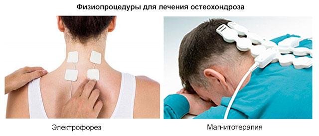 физиопроцедуры электрофорез и магнитотерапия