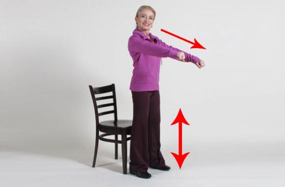 упражнение на стуле