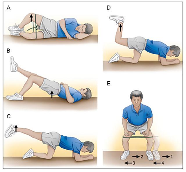 примеры упражнения при коксартрозе