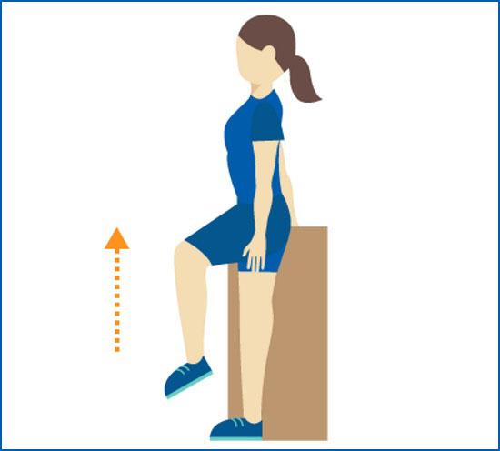 подъемы согнутых ног у опоры