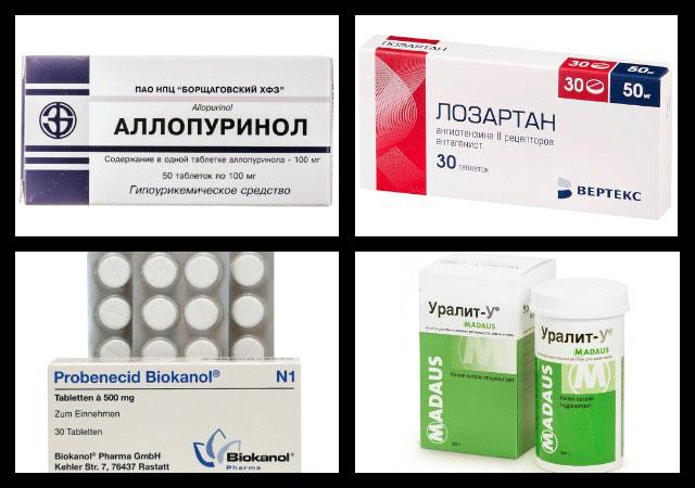 аллопуринол, лозартан, пробенецид, уралит-у
