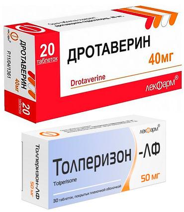 препараты Дротаверин и Толперизон