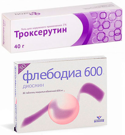 препараты Троксерутин и Флебодиа