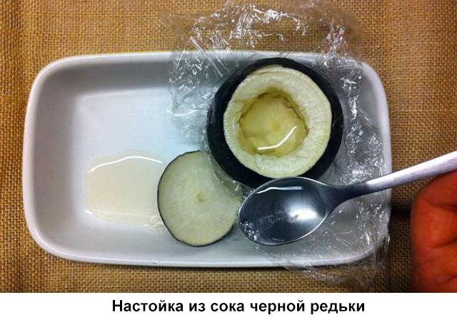 настойка из сока черной редьки
