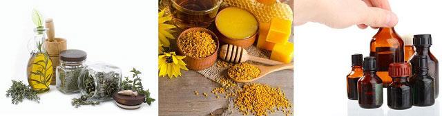 травы и масла, жир и пчелиный нектар, химические составы